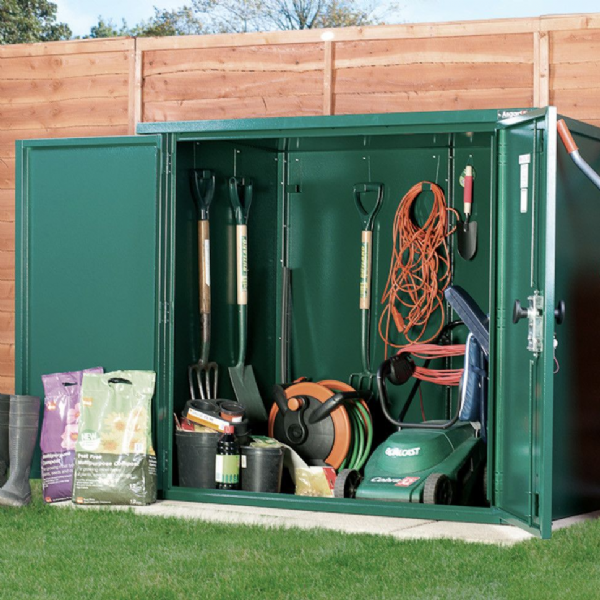 5ft x 3ft Secure Metal Shed - 3 Point Locking